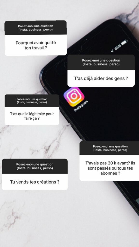 Tutoriel répondre à plusieurs questions dans Instagram story