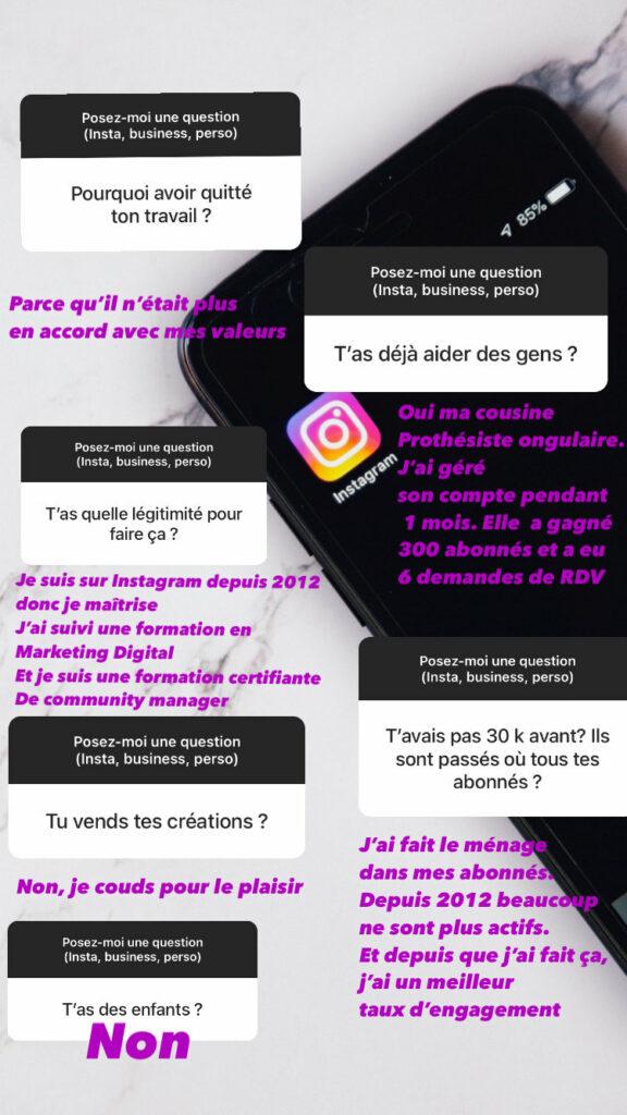 Tutoriel pas à pas : répondre à plusieurs questions dans Instagram story